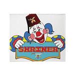 Proud Shrine Clown Throw Blanket
