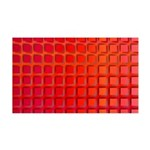 Red Retro Squares Pattern 35x21 Wall Decal