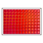 Red Retro Squares Pattern Banner