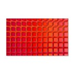 Red Retro Squares Pattern 20x12 Wall Decal