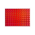 Red Retro Squares Pattern 5'x7'Area Rug
