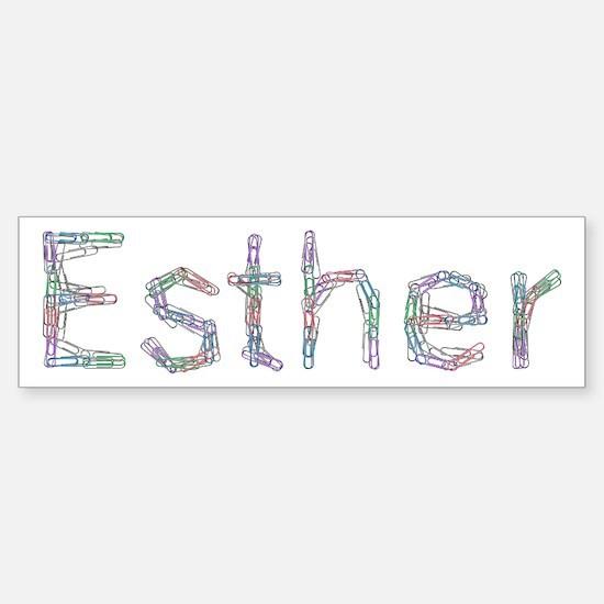Esther Paper Clips Bumper Bumper Bumper Sticker