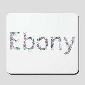 Ebony Paper Clips Mousepad