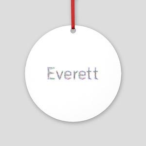 Everett Paper Clips Round Ornament