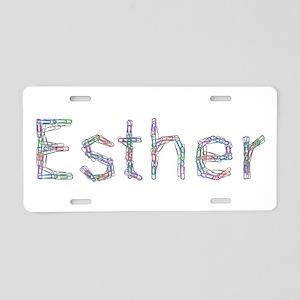 Esther Paper Clips Aluminum License Plate