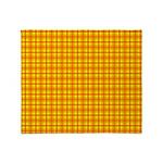 Orange Gingham Throw Blanket