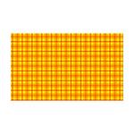 Orange Gingham 35x21 Wall Decal