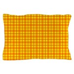 Orange Gingham Pillow Case