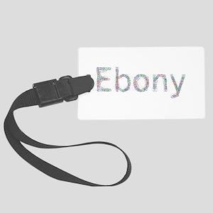 Ebony Paper Clips Large Luggage Tag