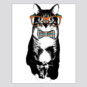 Hipster Cat Small Poster