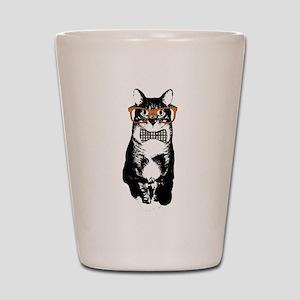 Hipster Cat Shot Glass