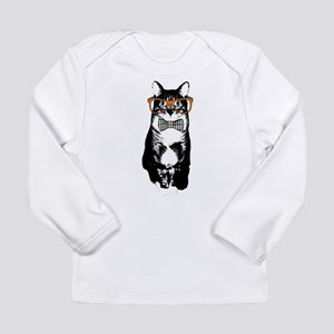 Hipster Cat Long Sleeve Infant T-Shirt