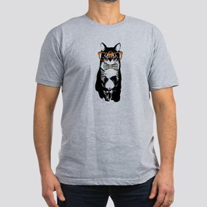 Hipster Cat Men's Fitted T-Shirt (dark)