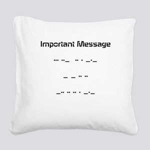 Morse Code Square Canvas Pillow