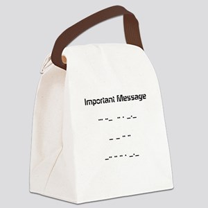 Morse Code Canvas Lunch Bag