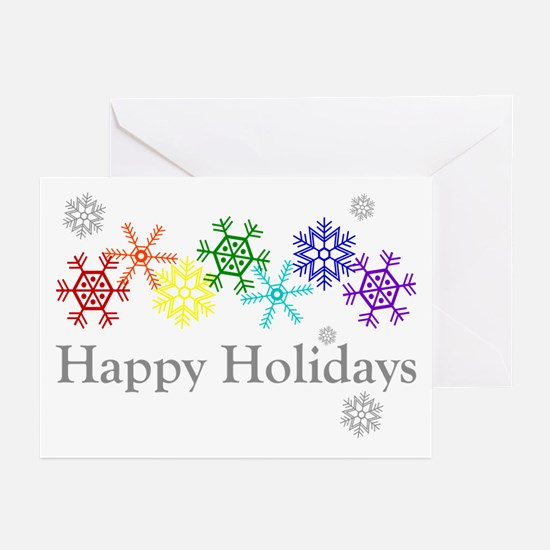 Rainbow Snowflakes Greeting Cards (Pk of 20)