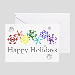 Rainbow Snowflakes Greeting Card