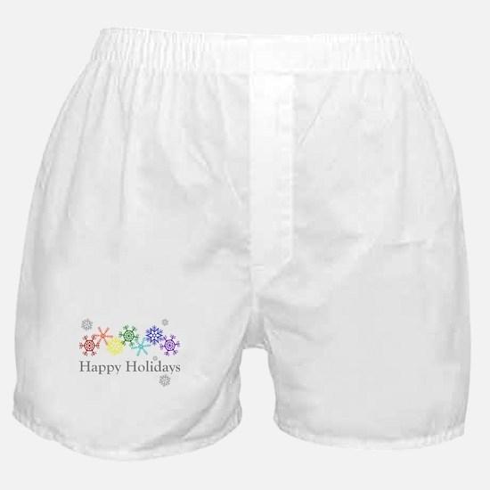 Rainbow Snowflakes Boxer Shorts
