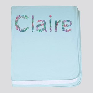 Claire Paper Clips baby blanket