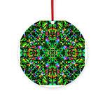 Green Fractal Mandala Ornament (Round)