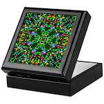 Green Fractal Mandala Keepsake Box