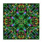 Green Fractal Mandala Tile Coaster