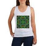 Green Fractal Mandala Women's Tank Top