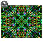 Green Fractal Mandala Puzzle