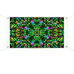 Green Fractal Mandala Banner
