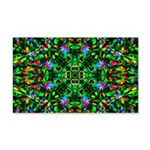 Green Fractal Mandala 20x12 Wall Decal