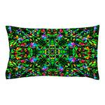 Green Fractal Mandala Pillow Case