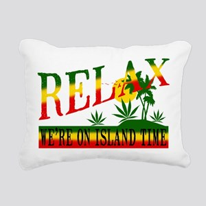 relax weed Rectangular Canvas Pillow