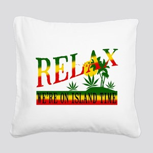 relax weed Square Canvas Pillow