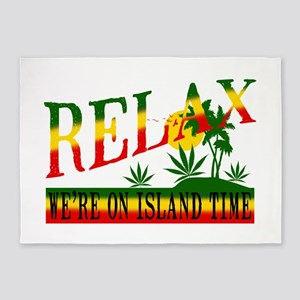 relax weed 5'x7'Area Rug