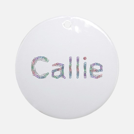 Callie Paper Clips Round Ornament