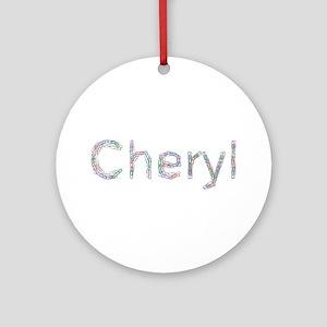 Cheryl Paper Clips Round Ornament