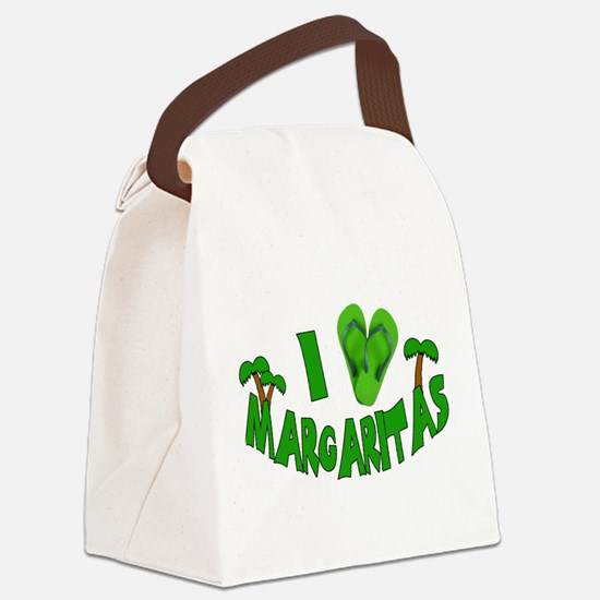 heart marg.png Canvas Lunch Bag