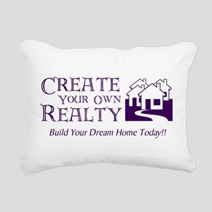Create Your Own Realty Rectangular Canvas Pillow
