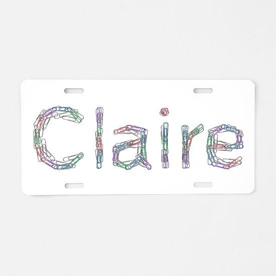 Claire Paper Clips Aluminum License Plate