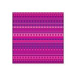 Purple and Pink Stripy Pattern Square Sticker 3