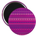 Purple and Pink Stripy Pattern Magnet