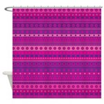 Purple and Pink Stripy Pattern Shower Curtain