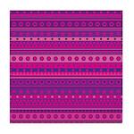Purple and Pink Stripy Pattern Tile Coaster