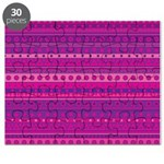 Purple and Pink Stripy Pattern Puzzle