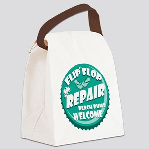 flip flop retro Canvas Lunch Bag