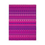 Purple and Pink Stripy Pattern Twin Duvet