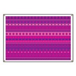 Purple and Pink Stripy Pattern Banner