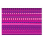 Purple and Pink Stripy Pattern Large Poster