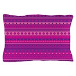 Purple and Pink Stripy Pattern Pillow Case