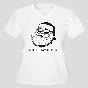Where My Hos At Women's Plus Size V-Neck T-Shirt